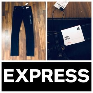 Express Dark Wash Blue Jeans